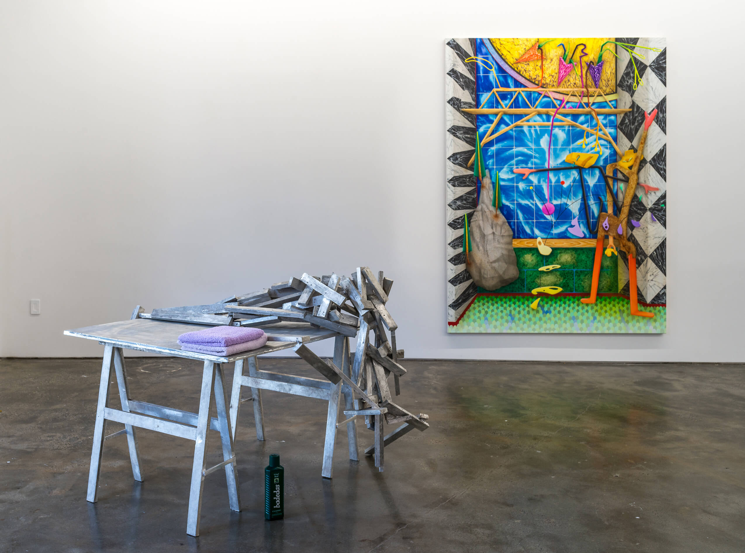 Installation view with Georg Herold »Figure of speech« at Artuner New York