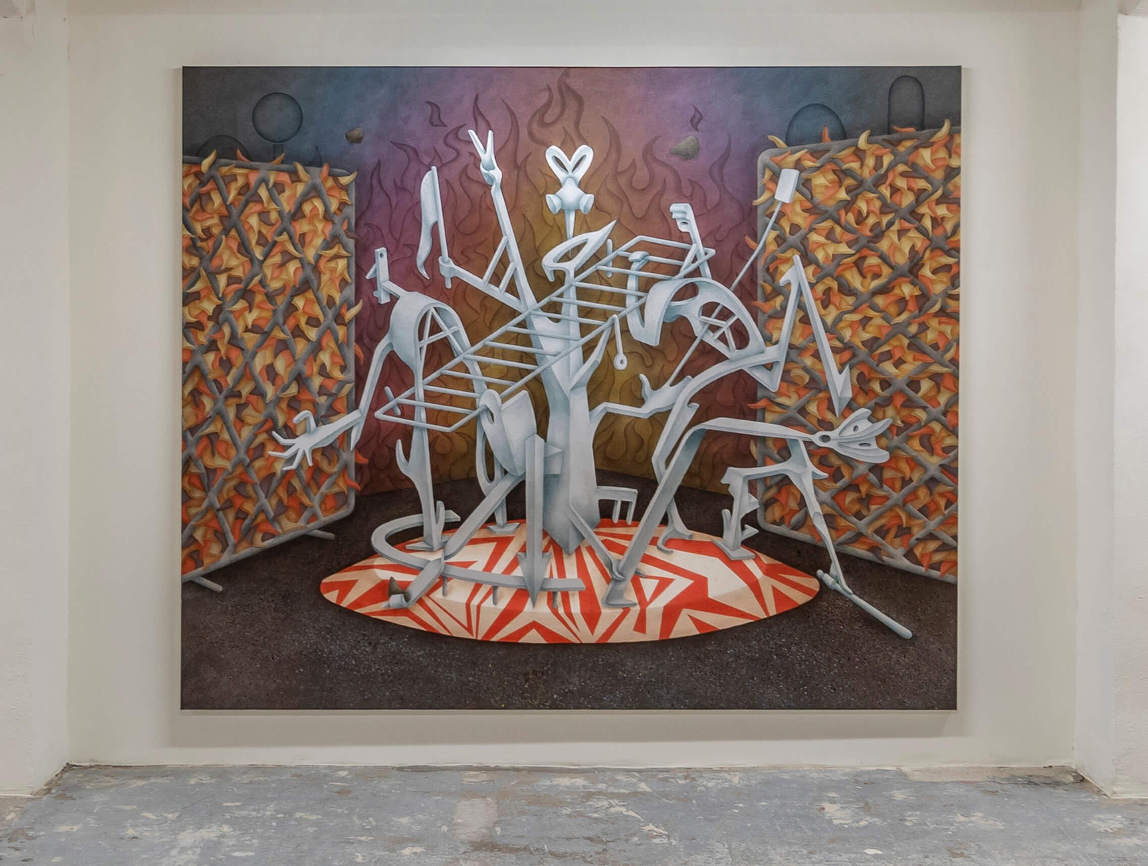 »Traffic circle« 210 x 250 cm Oil on canvas 2019