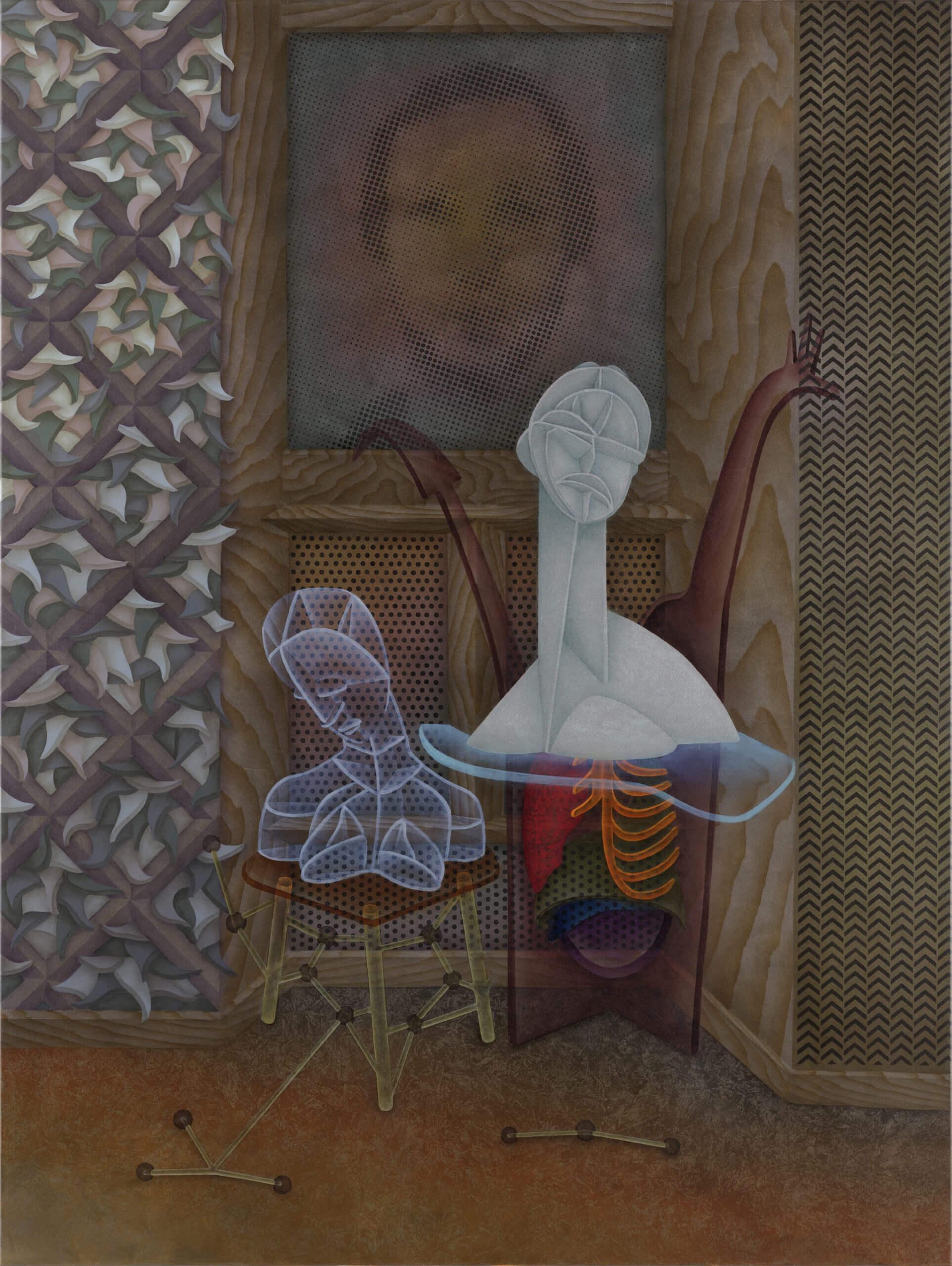 »Double trouble« 200 x 150 cm Oil on canvas 2019